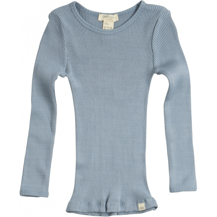 Minimalisma Bergen Classic Ls Blouse Clear Blue