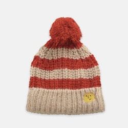 Bobo Choses Stripped knitted beanie fiesta
