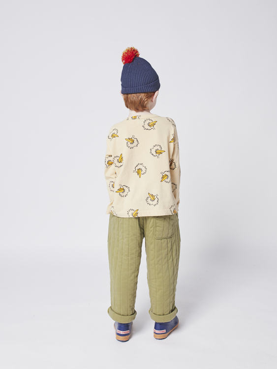 Bobo Choses Multicolor Pompom knitted beanie twilight blue