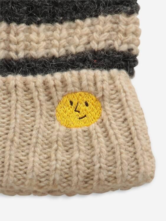 Bobo Choses Stripped knitted beanie december sky