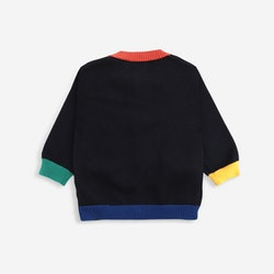 Bobo Choses Multicolor knitted cardigan baby twilight blue