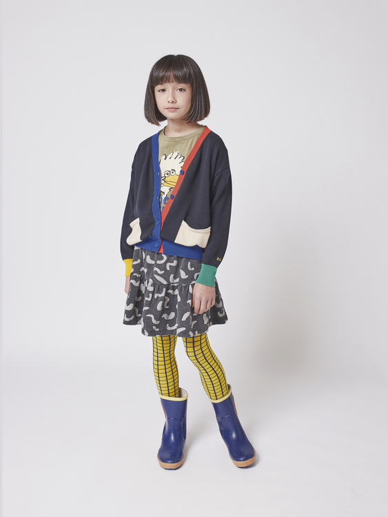 Bobo Choses Multicolor knitted cardigan kids twilight blue