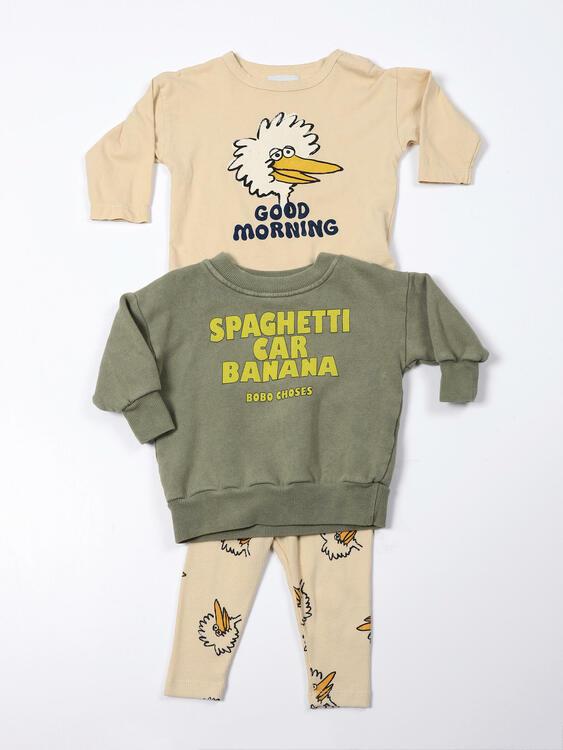 Bobo Choses Birdie all over legging soybean