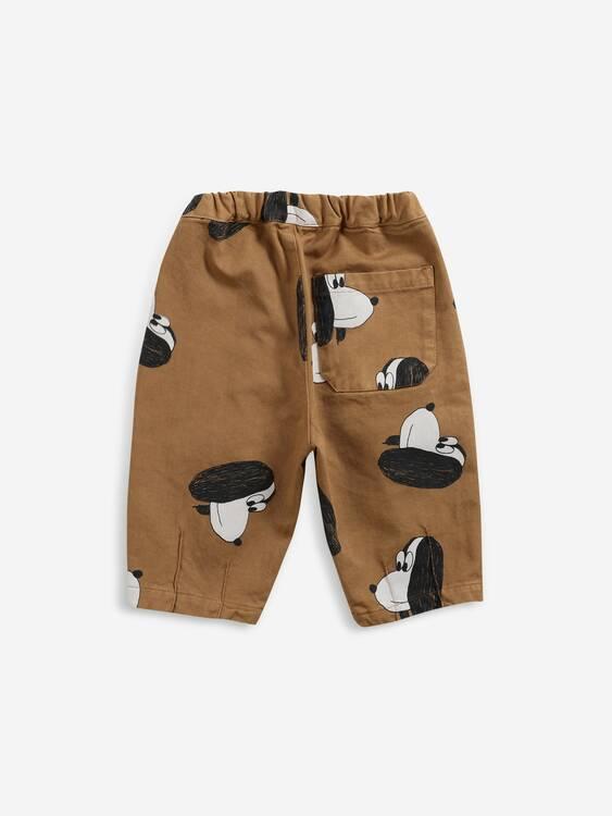 Bobo Choses Doggie all over woven pants apple cinnamon