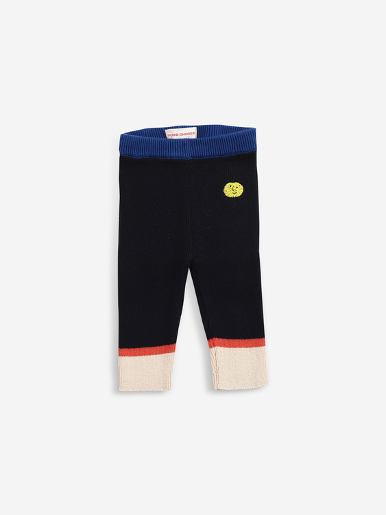 Bobo Choses Multicolor knitted pants twilight blue