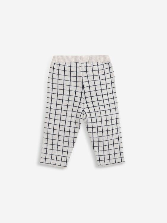 Bobo Choses Checkered knitted pants soybean