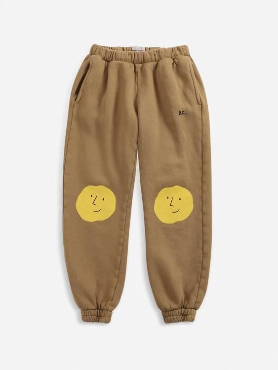 Bobo Choses Faces jogging pants apple cinnamon