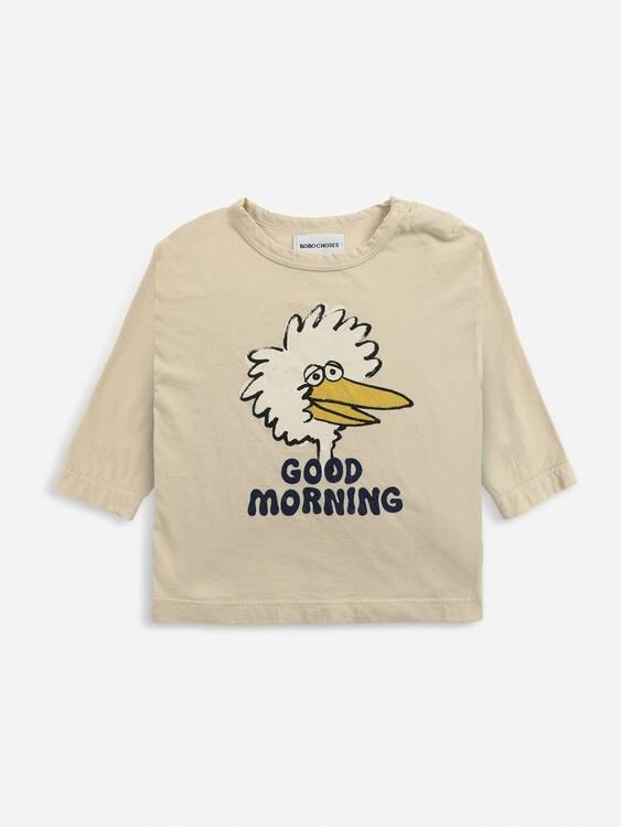 Bobo Choses Birdie long sleeve T-shirt soybean