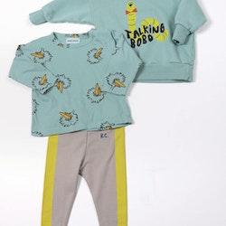 Bobo Choses Birdie all over long sleeve T-shirt wasabi