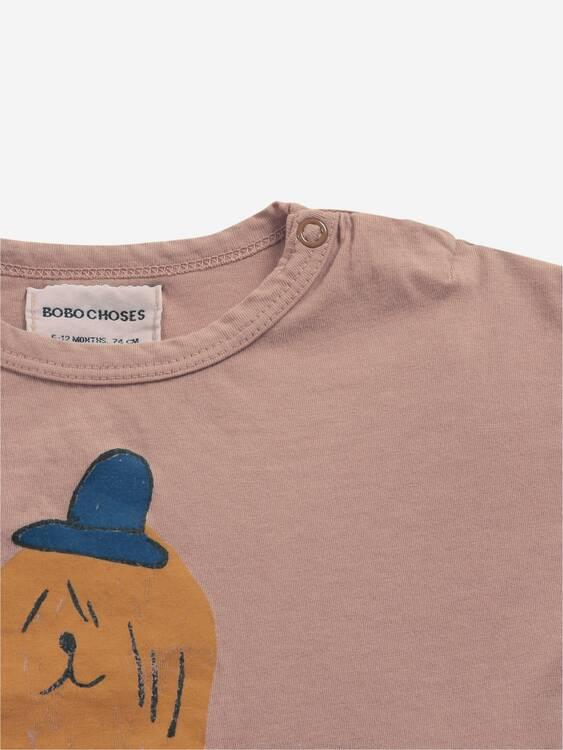 Bobo Choses Dog in the hat long sleeve T-shirt tuscany