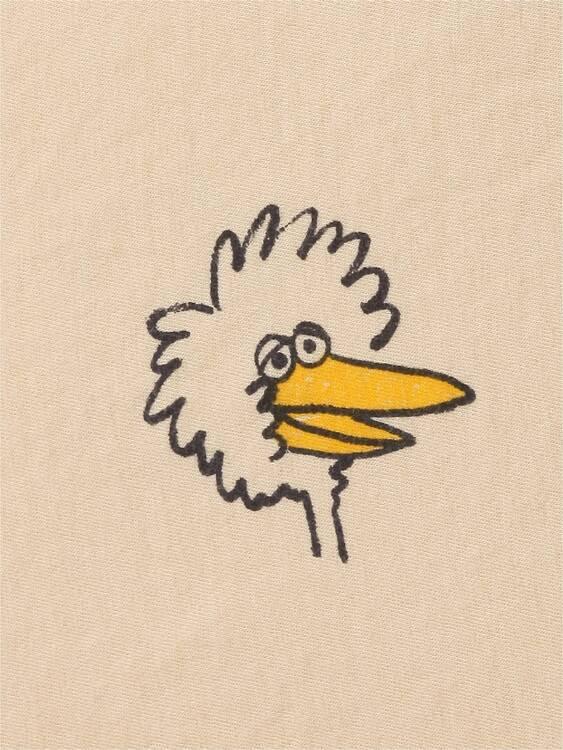 Bobo Choses Birdie all over long sleeve T-shirt soybean