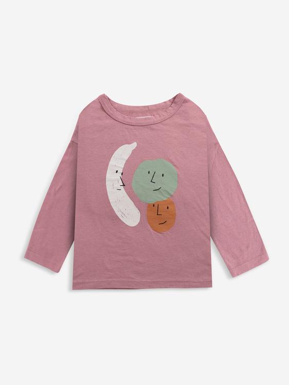Bobo Choses Fruits long sleeve T-shirt mesa rose