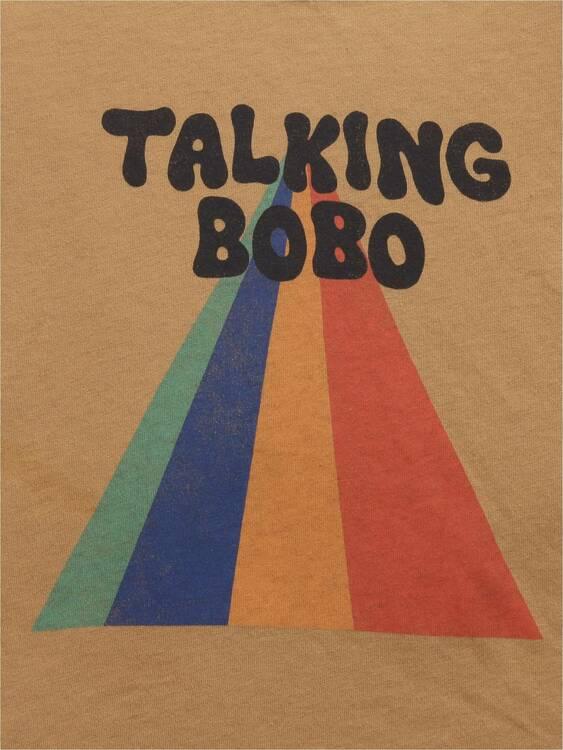 Bobo Choses Talking Bobo Rainbow long sleeve T-shirt apple cinnamon