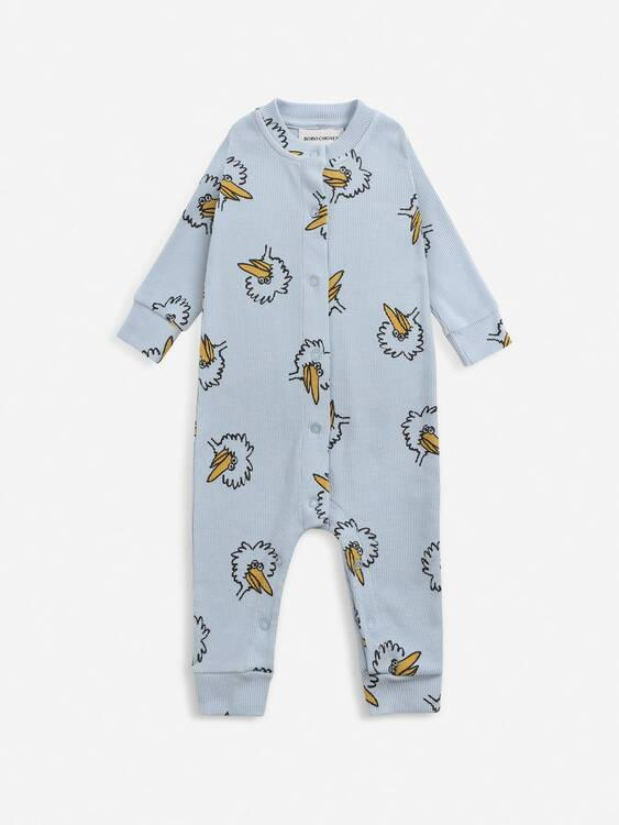 Bobo Choses Birdie all over overall sea moss