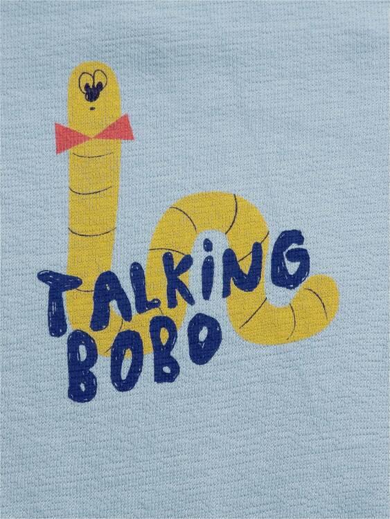 Bobo Choses Scholar worm fleece overall sea moss