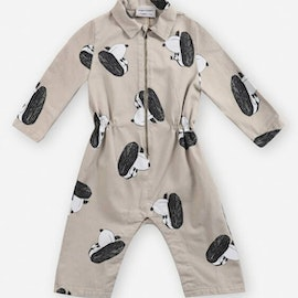 Bobo Choses Doggie all over woven overall rainy day