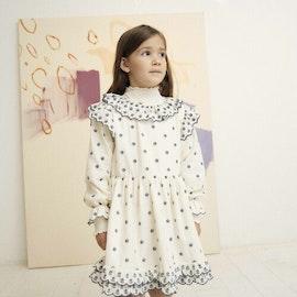 The New Society Gilda Dress Natural & Moroccan