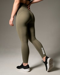 Silhouette Tights - Khaki Green