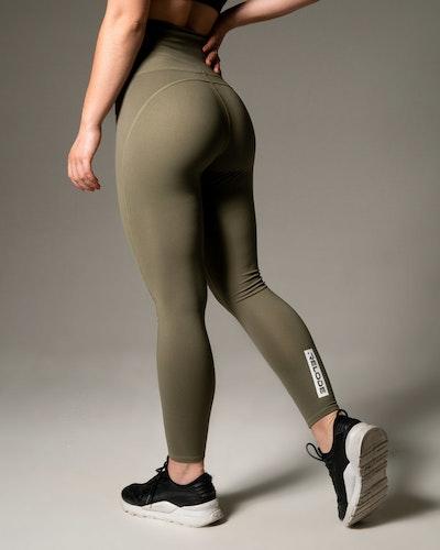 Silhouette Tights - Khaki Green