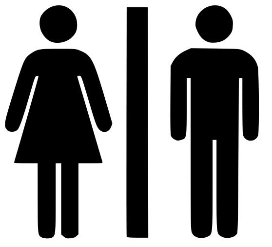 Väggdekor - Dam & Herr toalett / wc