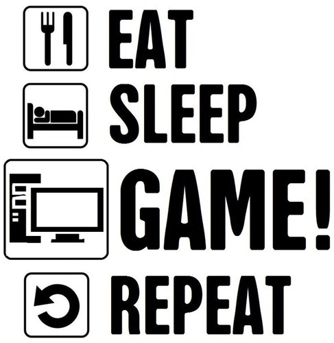 Väggdekor - EAT SLEEP GAME REPEAT #2