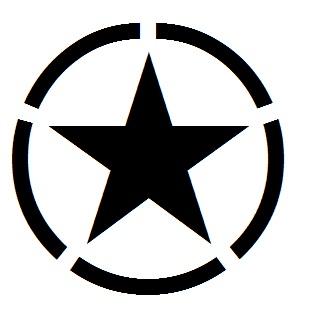 Dekal - Stjärna i ring