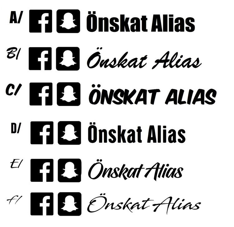 Dekal - Facebook & Snapchat alias
