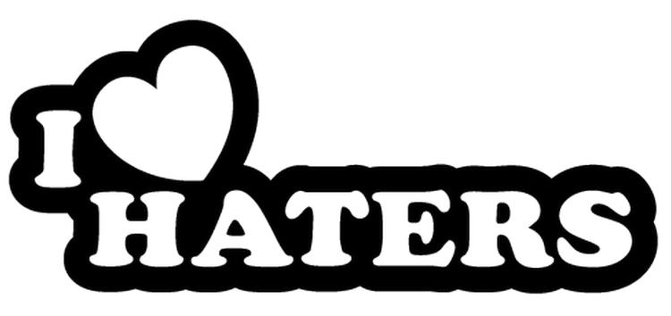 Dekal - I LOVE HATERS