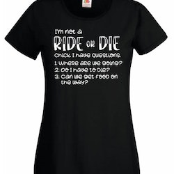RIDE or DIE | Tshirt dam