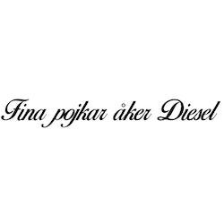 Dekal - Fina pojkar åker Diesel