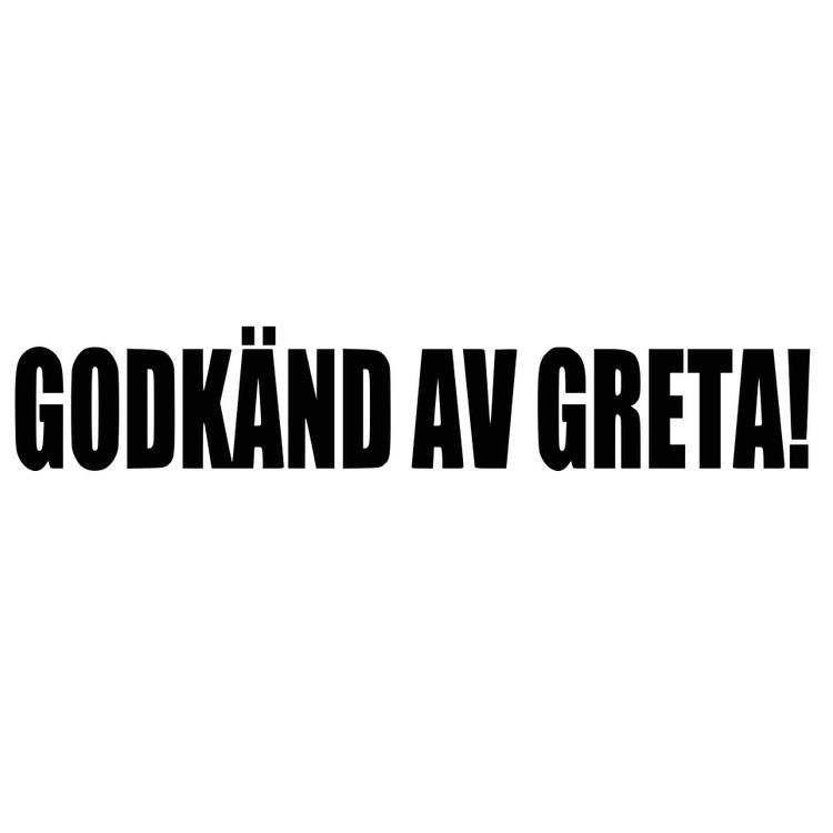 Dekal - GODKÄND AV GRETA!