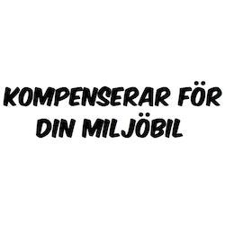 Dekal - KOMPENSERAR FÖR DIN MILJÖBIL
