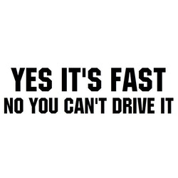 Dekal - YES IT'S FAST NO YOU CAN'T DRIVE IT