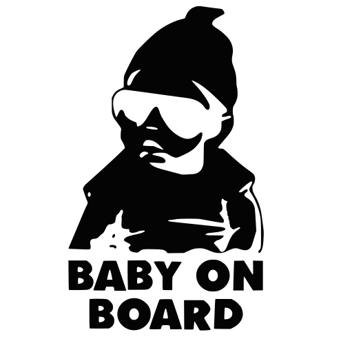 Dekal - BABY ON BOARD