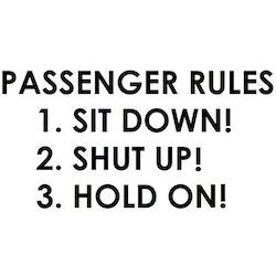Dekal - PASSENGER RULES