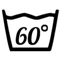 Väggdekor - Tvättsymbol 60°