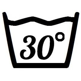 Väggdekor - Tvättsymbol 30°