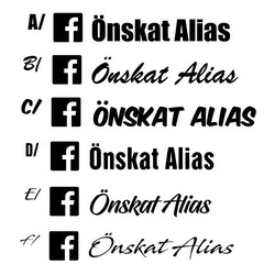 Dekal - Facebook alias