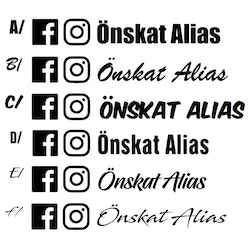 Dekal - Instagram & Facebook alias