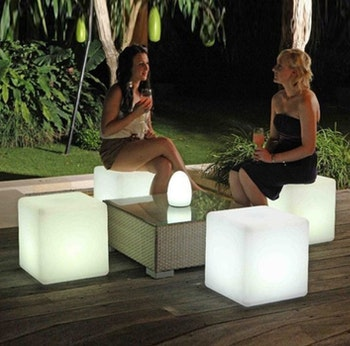 เช่า LED cube 50 x 50 ซม. - LED RGB แบบชาร์จซ้ำได้
