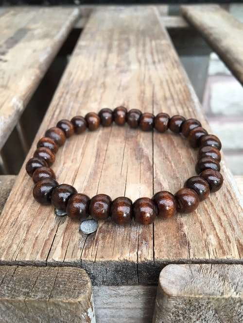 Armband – Mörkbrunt trä
