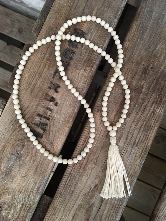"""Långt halsband med tofs – Jaspis """"River stone"""""""