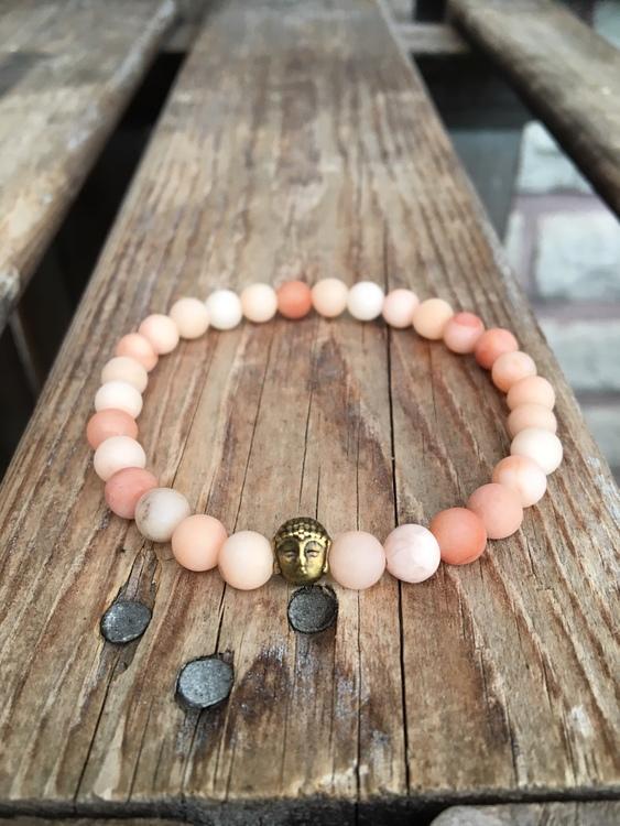Armband – Aventurin, bronsbuddha