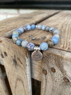 Armband – Ljusblå agat