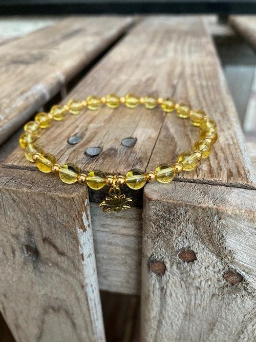 Armband – Citrin & lotus