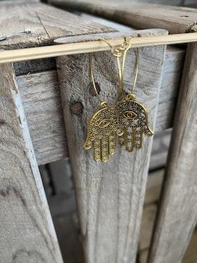 Örhängen – Hamsa, guld