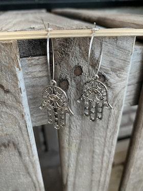 Örhängen – Hamsa, silver