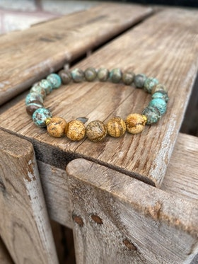 Armband – Havsagat & jaspis