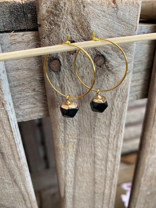 Örhängen – Svart agat