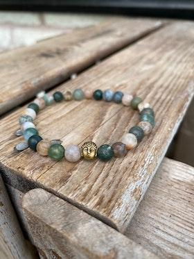 Armband – Agater & buddha